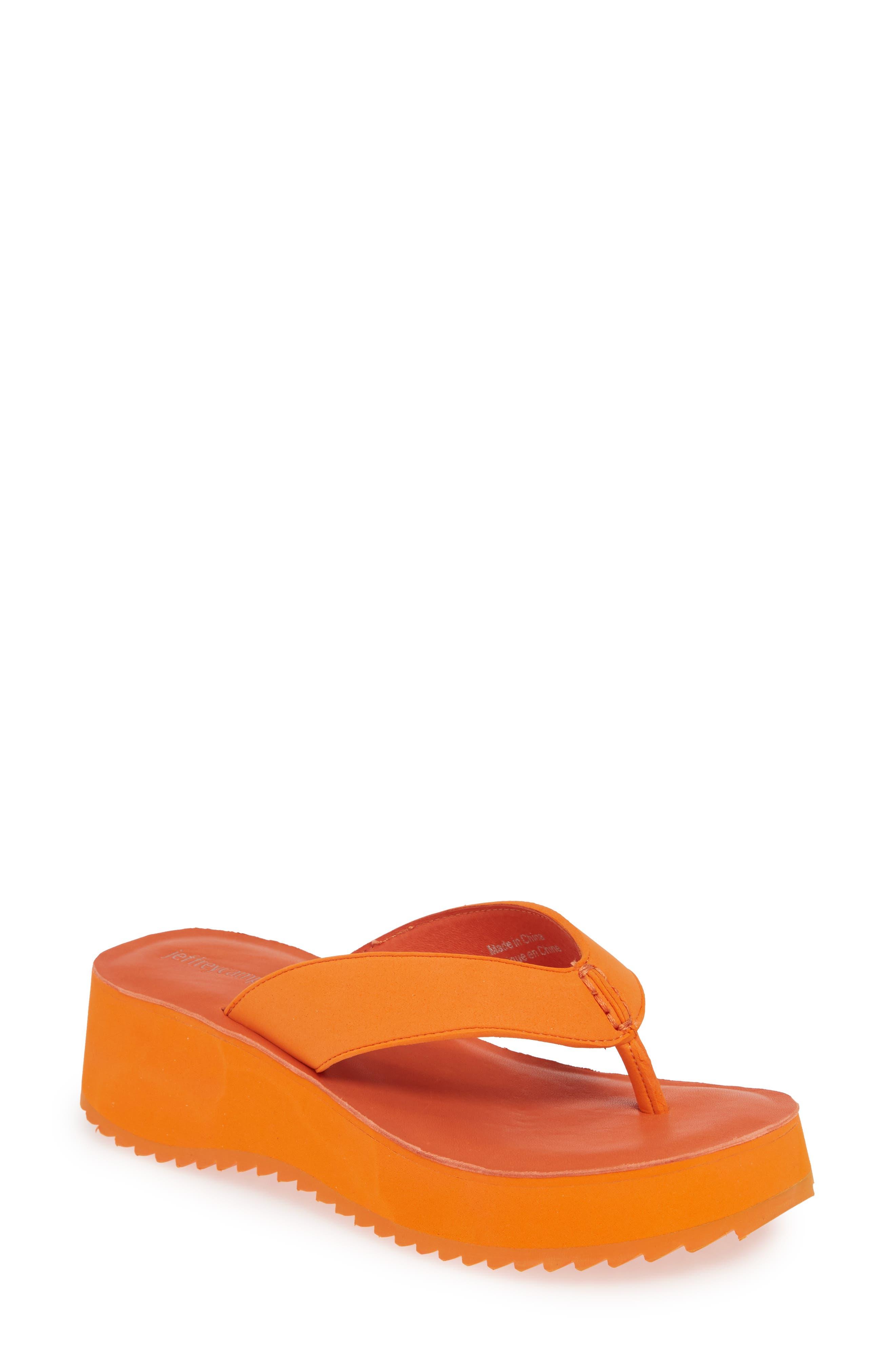Jeffrey Campbell Platform Flip Flop, Orange