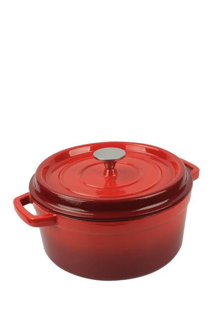 Image of NutriChef Enamel Coated Cast Iron Pot with Lid - 5 Quarts