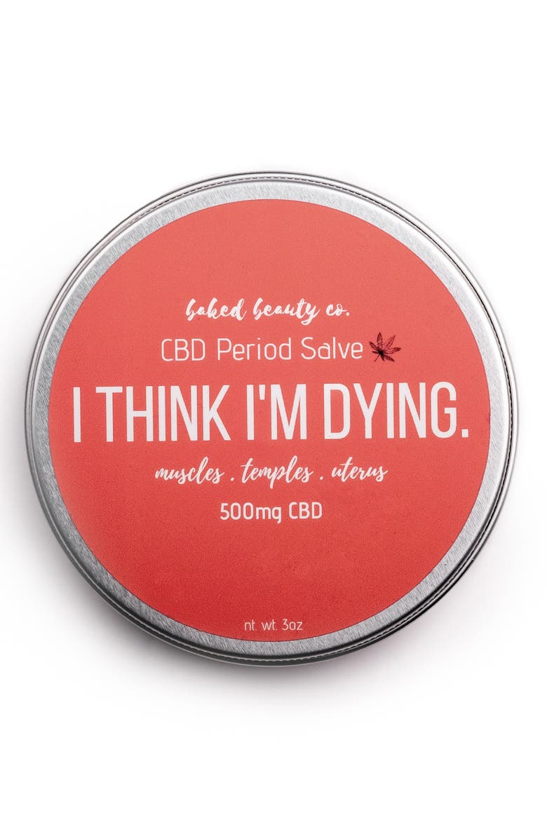 BAKED BEAUTY CO. I Think I'm Dying CBD Salve, Main, color, 650