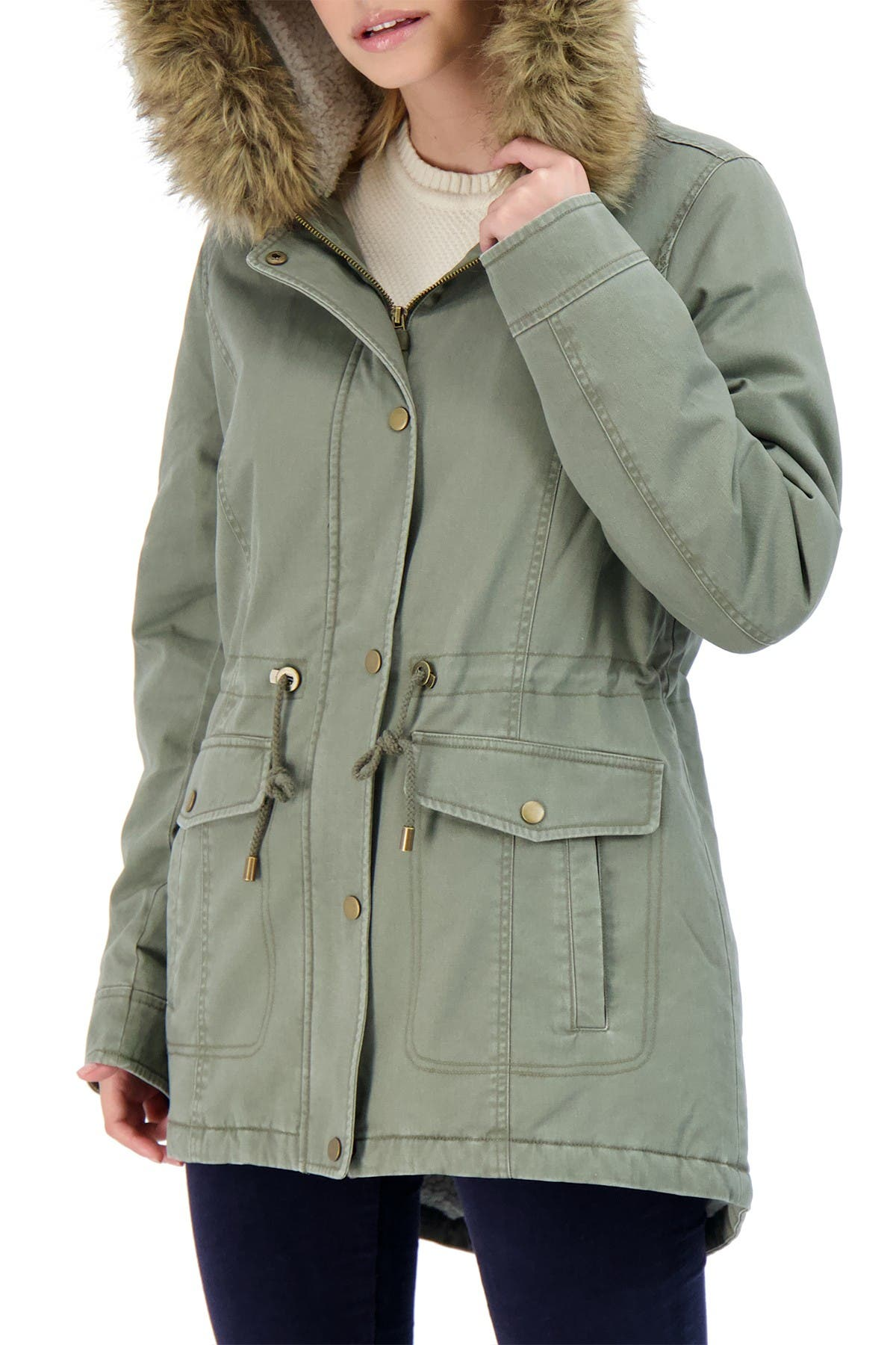 Sebby Cotton Faux Fur Lined Parka