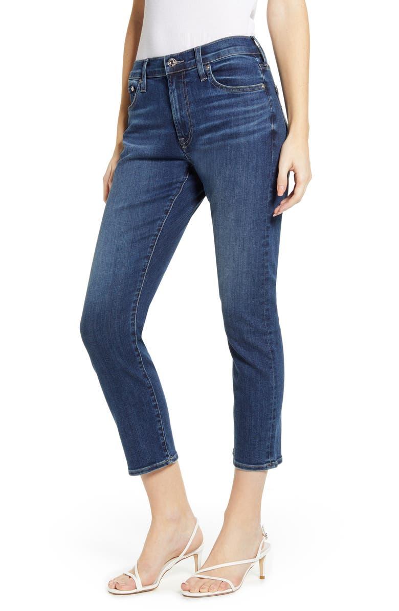 EDWIN Jamie High Waist Crop Jeans, Main, color, 422