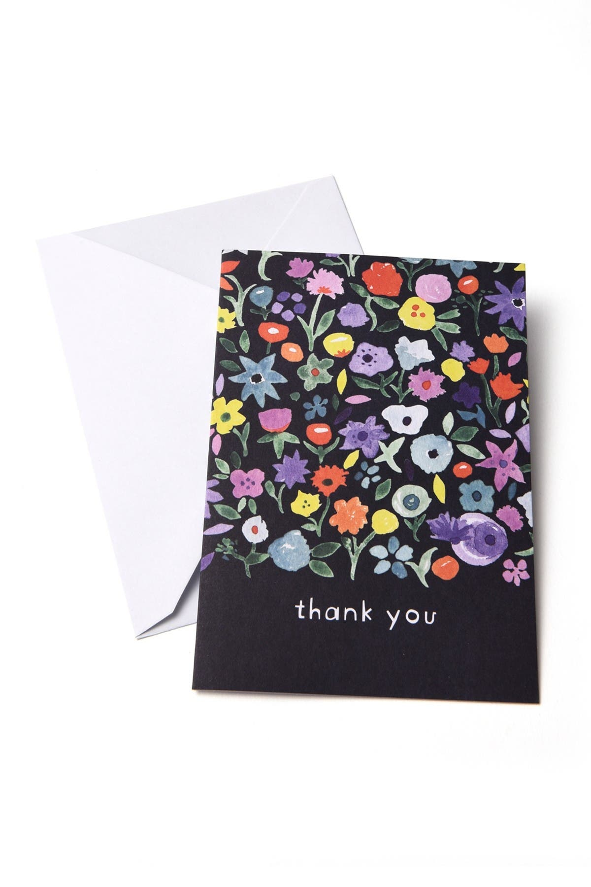 Image of GARTNER STUDIOS Navy Floral Thank You Cards - 96-Count