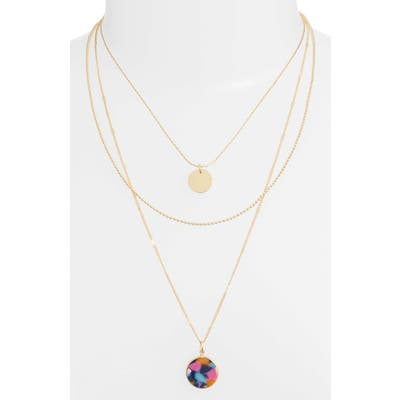 Sterling Forever Resin Layered Pendant Necklace