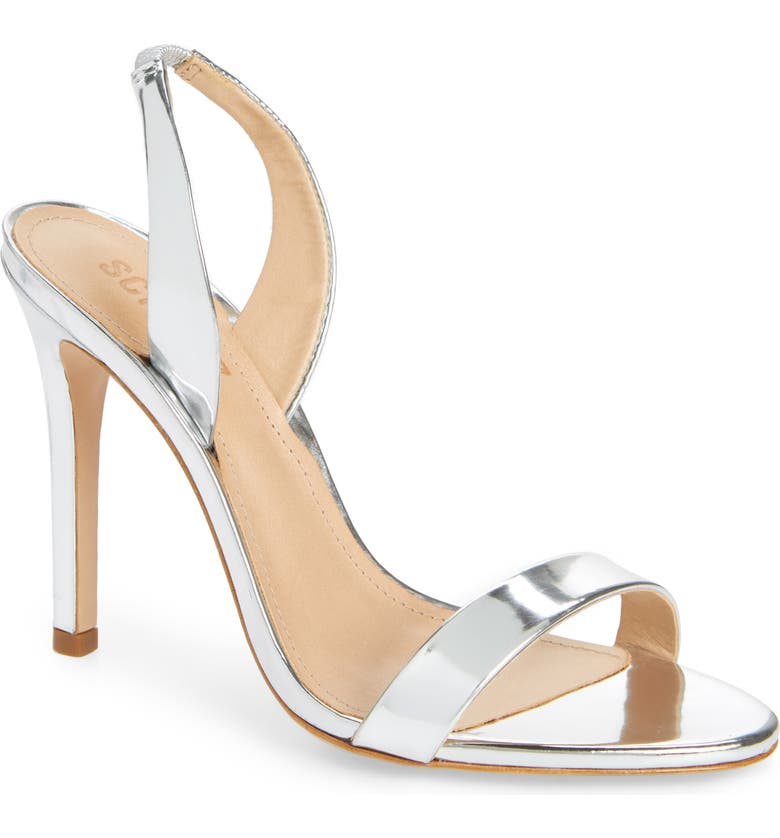 SCHUTZ Luriane Sandal, Main, color, SILVER PATENT LEATHER
