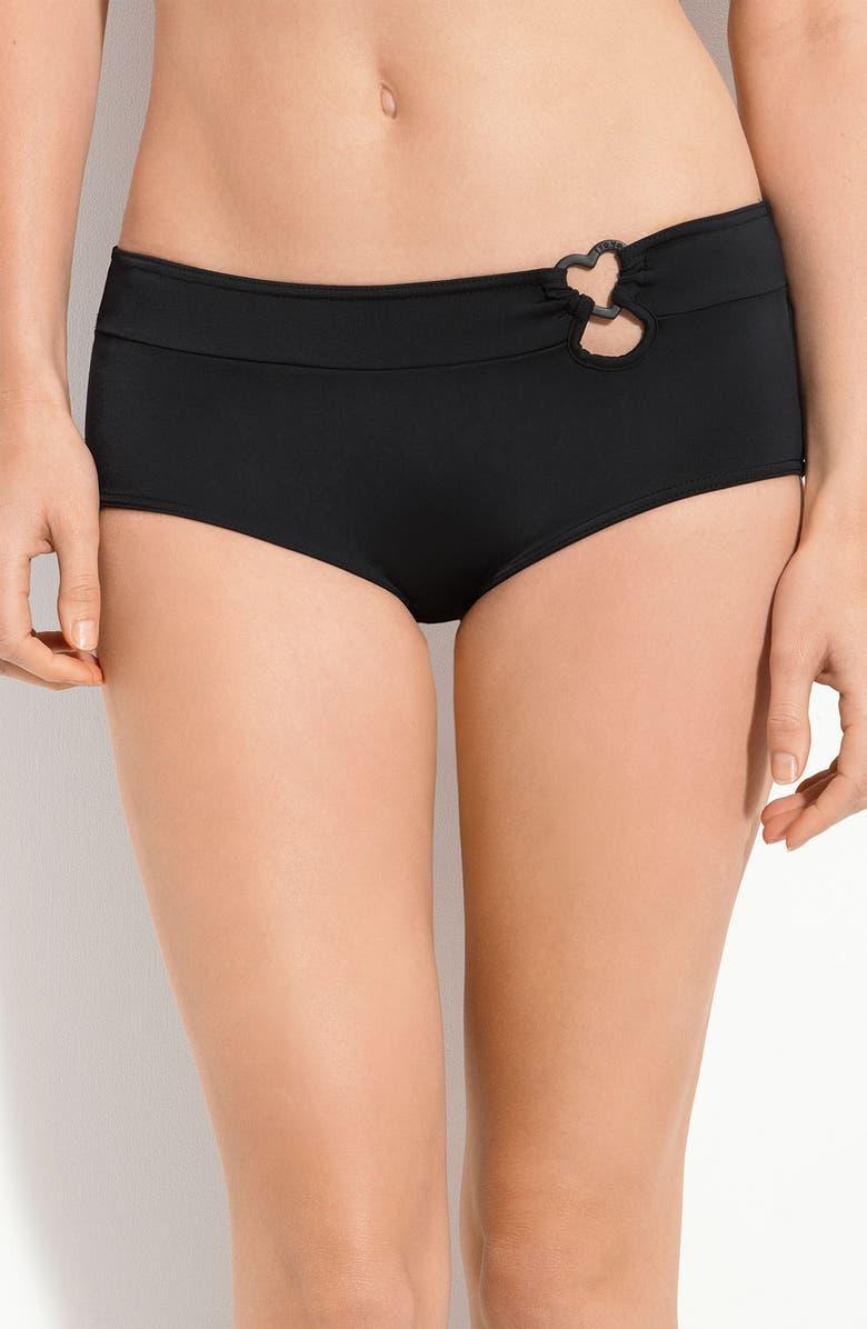FREYA 'Eclipse' Heart Ring Bikini Bottoms, Main, color, 001
