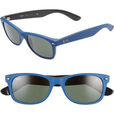 Ray-Ban Small New Wayfarer 52Mm Sunglasses - Blue/ Green Solid