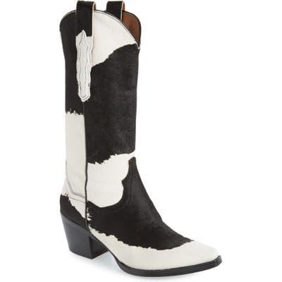 Jeffrey Campbell Dagget Genuine Calf Hair Western Boot