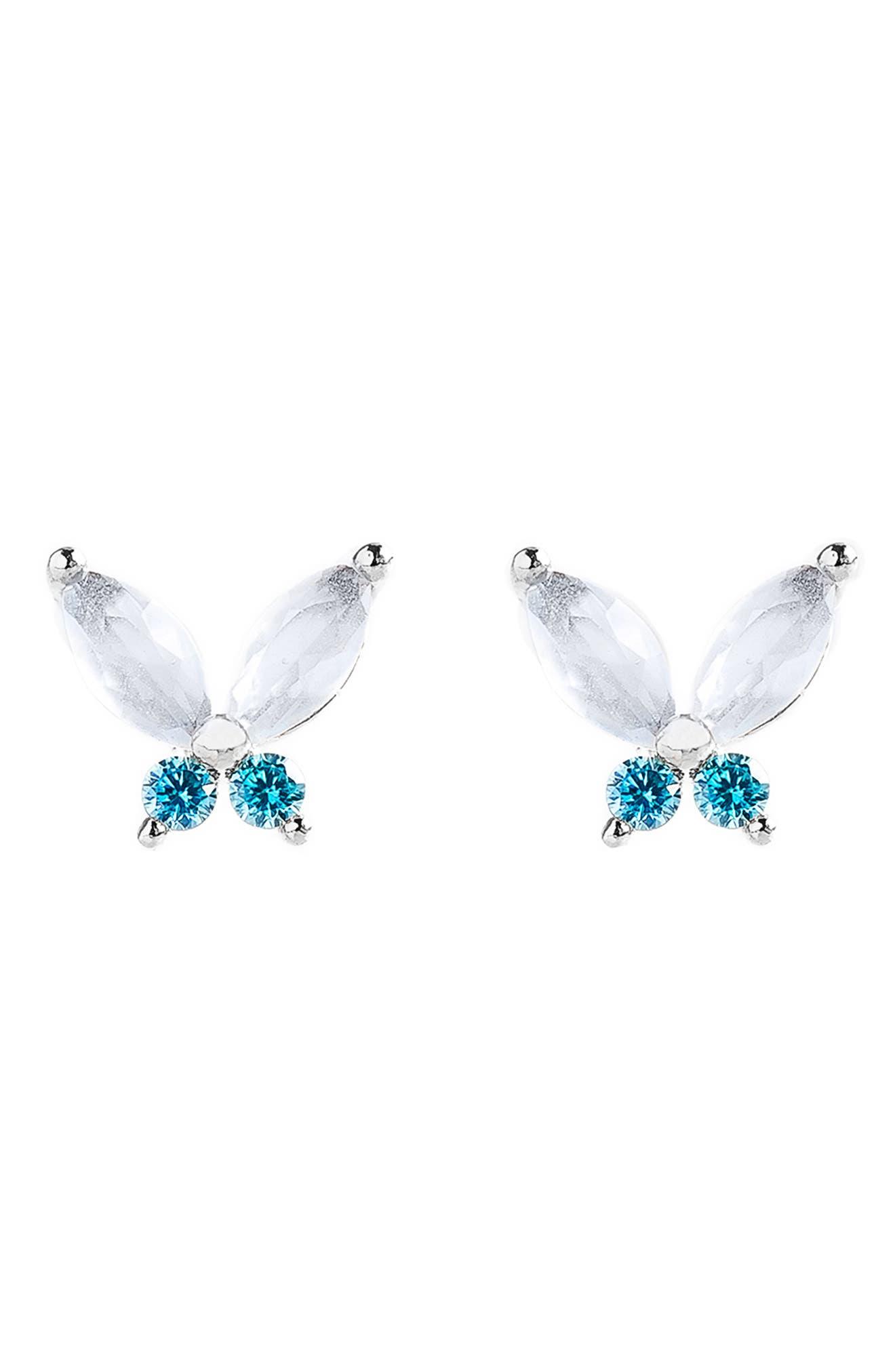Elsa Mari Butterfly Stud Earrings