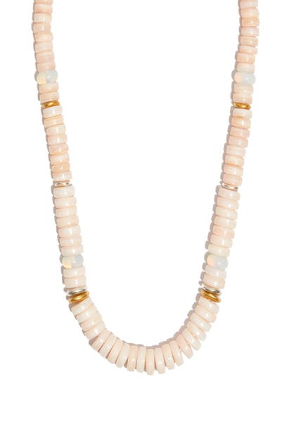 Madewell MOTHER-OF-PEARL BEADED NECKLACE