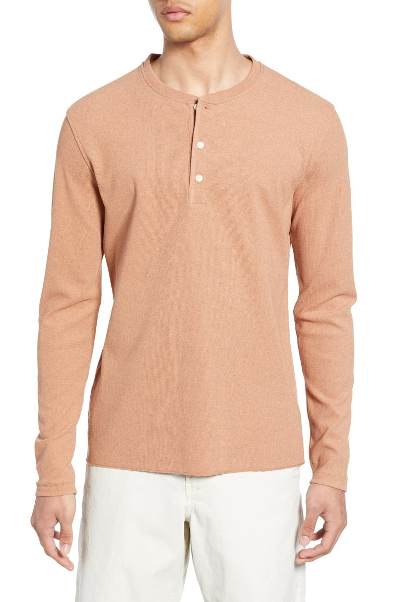 BILLY REID Regular Fit Waffle Knit Henley, Main, color, 200