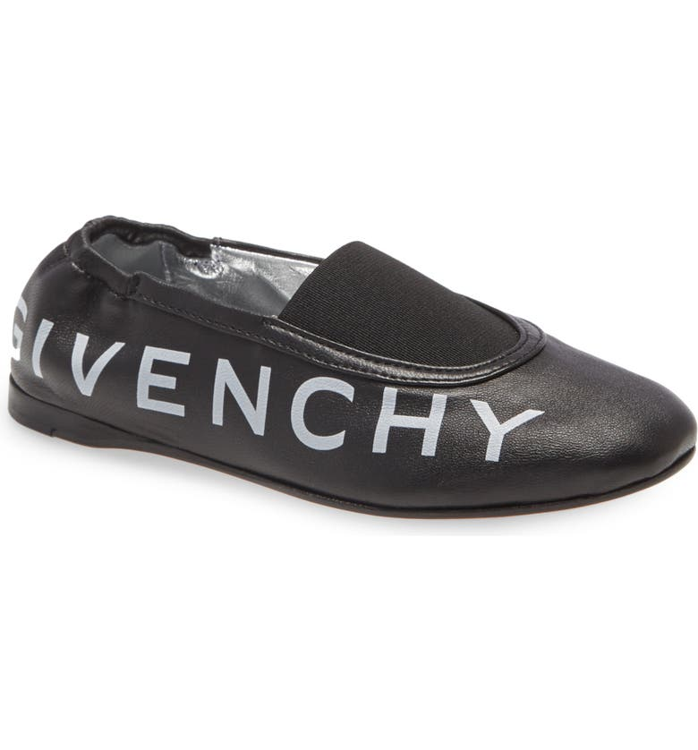 GIVENCHY Logo Ballerina Flat, Main, color, BLACK