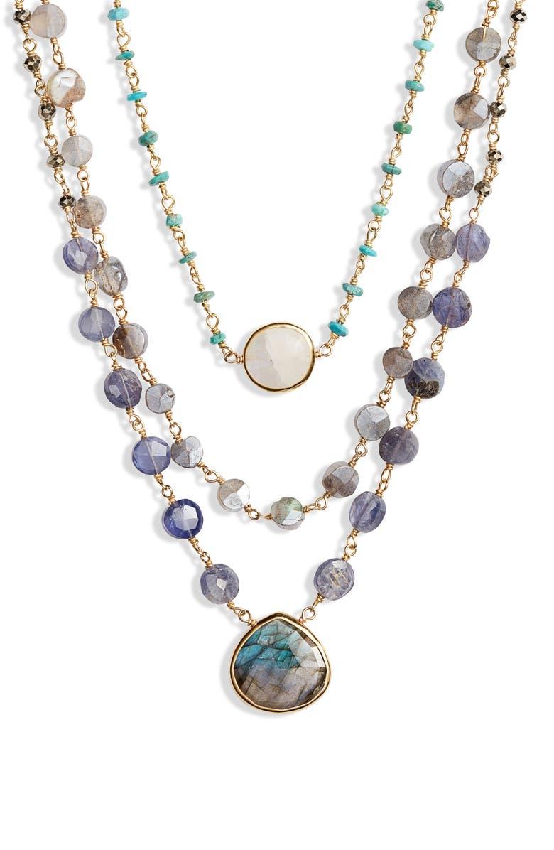 ELA RAE Diana Multistrand Coin Necklace, Main, color, 710