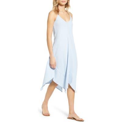 Lira Clothing Jade Handkerchief Hem Midi Dress, Blue