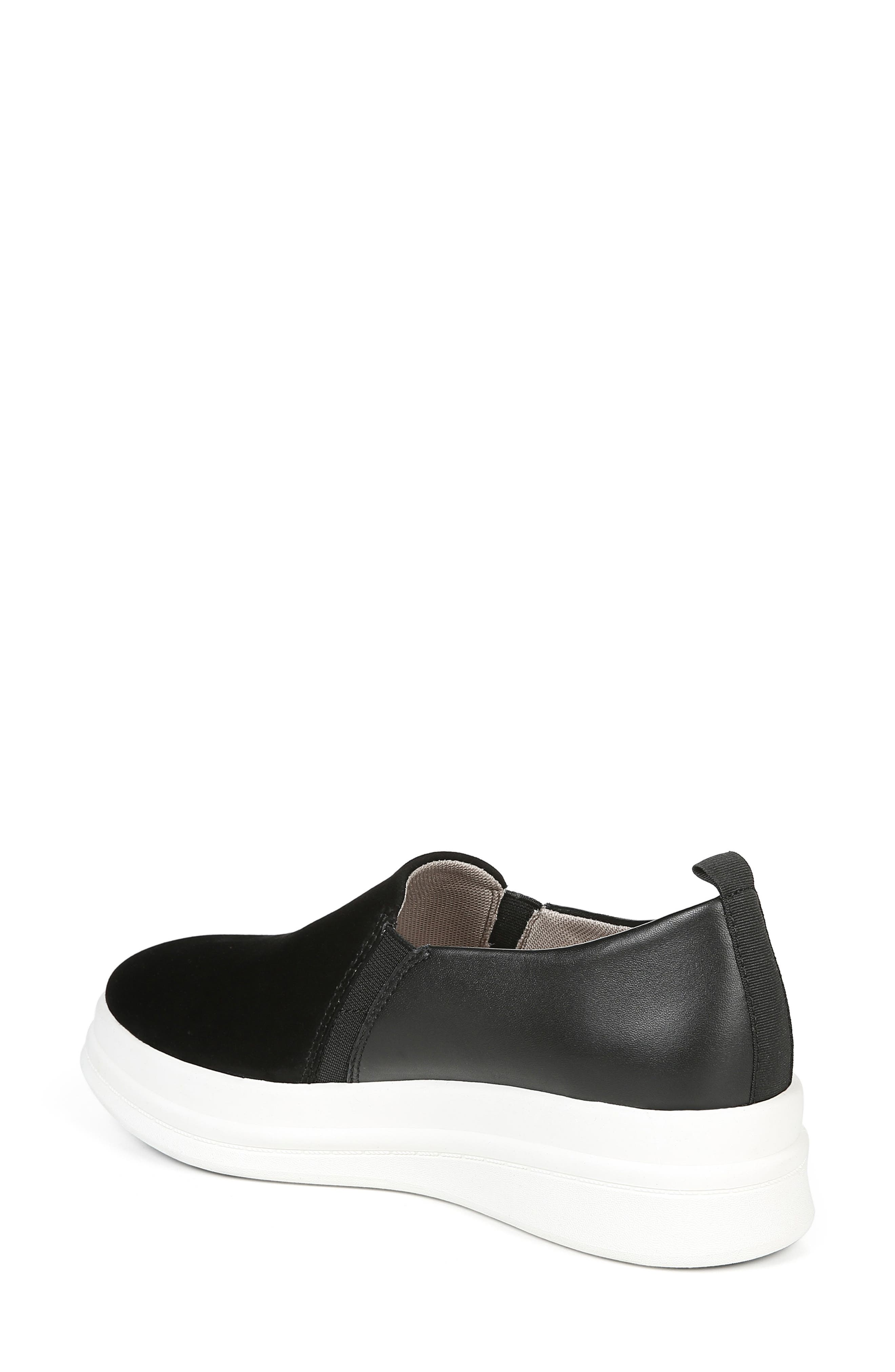 ,                             Yola Slip-On Sneaker,                             Alternate thumbnail 2, color,                             BLACK SUEDE/ LEATHER