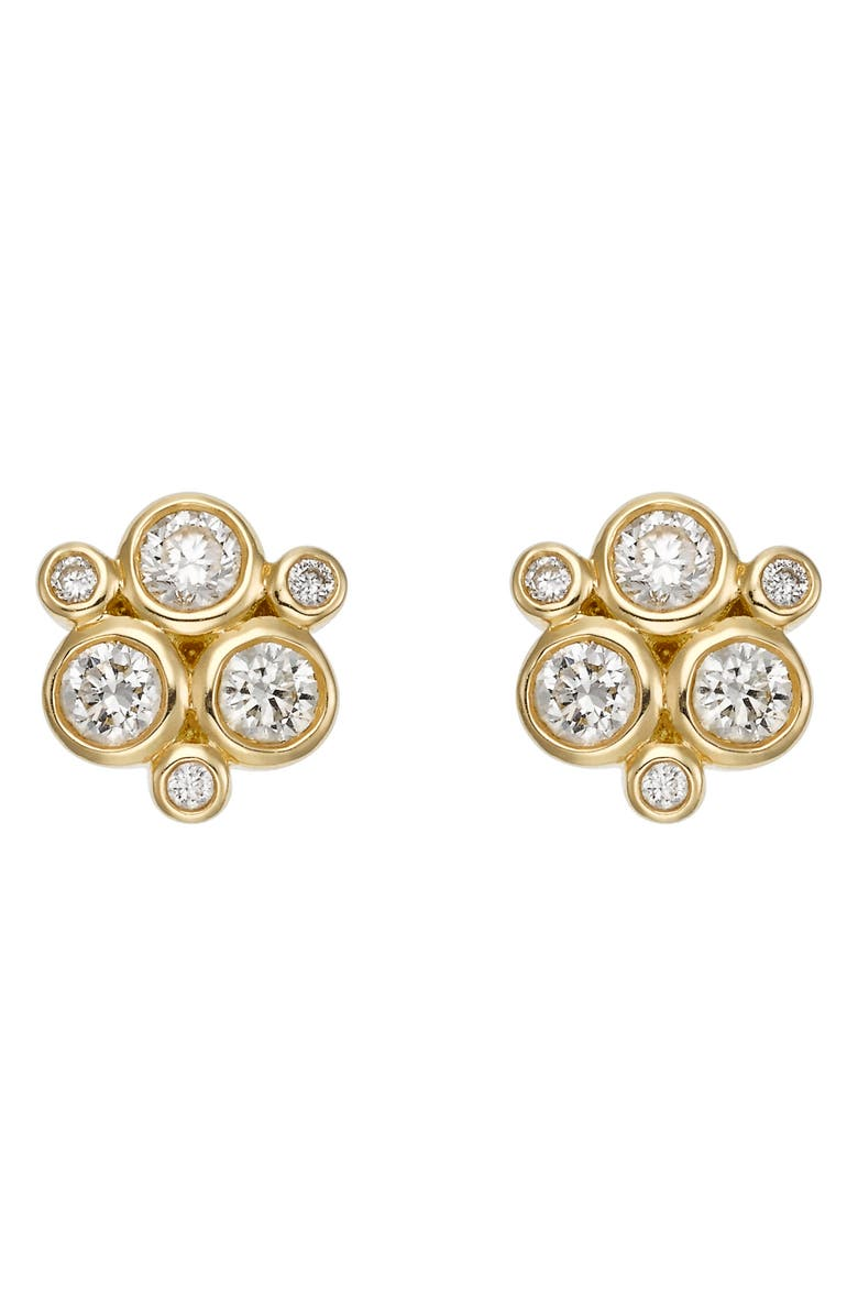 TEMPLE ST CLAIR Temple St. Clair Diamond Stud Earrings, Main, color, YELLOW GOLD