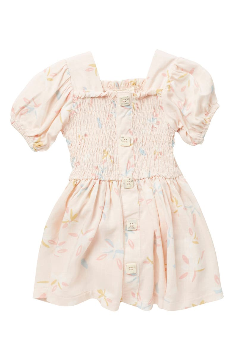 JESSICA SIMPSON Smocked Puff Sleeve Dress, Main, color, FLORAL