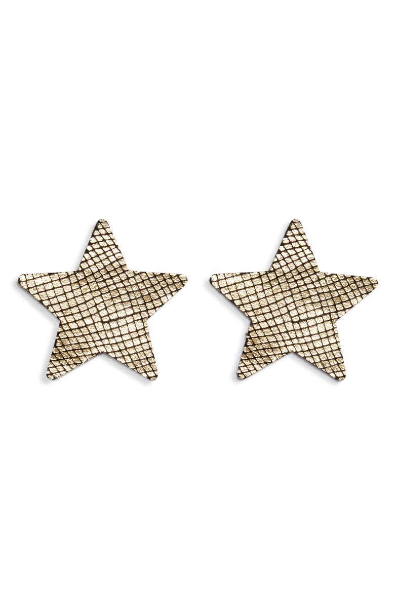 BRISTOLS 6 Nippies Star Nipple Covers, Main, color, GOLD