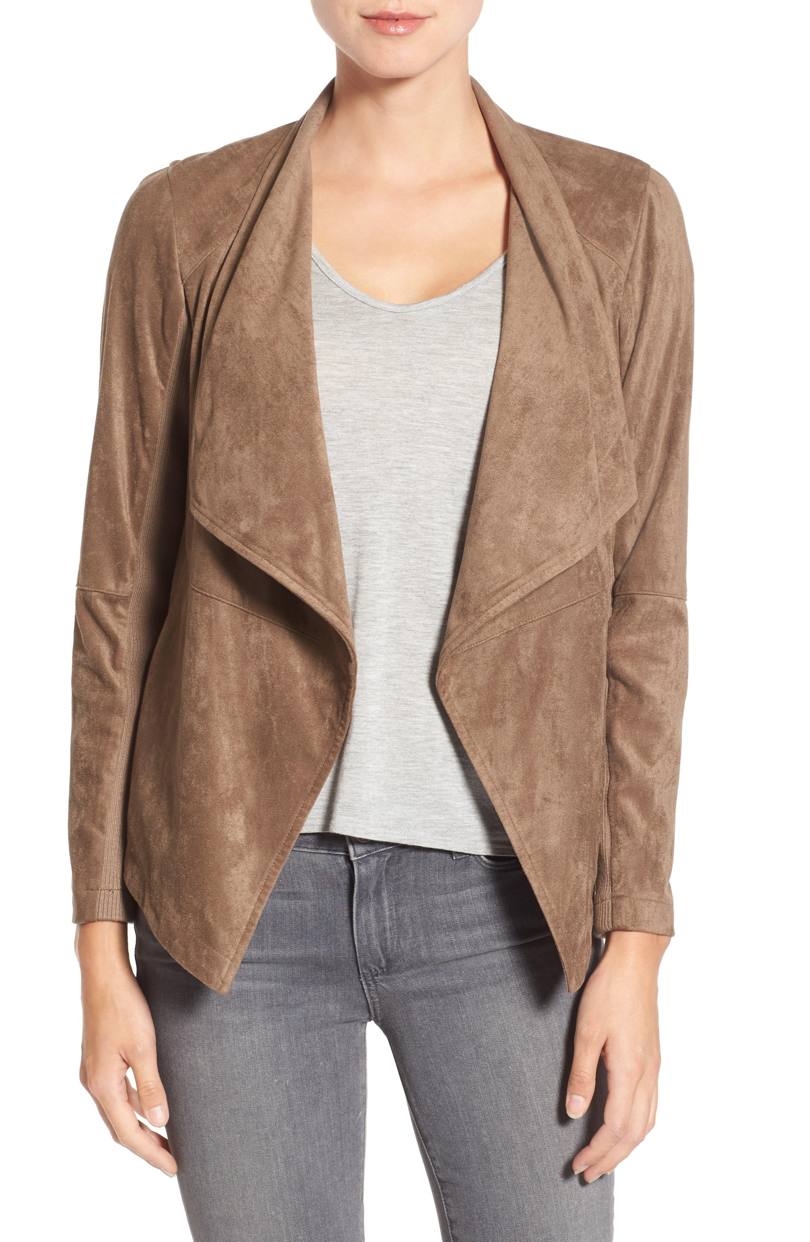 ,                             Nicholson Faux Suede Drape Front Jacket,                             Alternate thumbnail 21, color,                             230