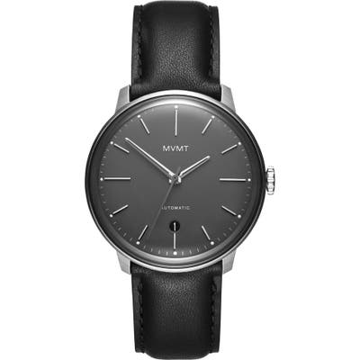 Mvmt Automatic Leather Strap Watch