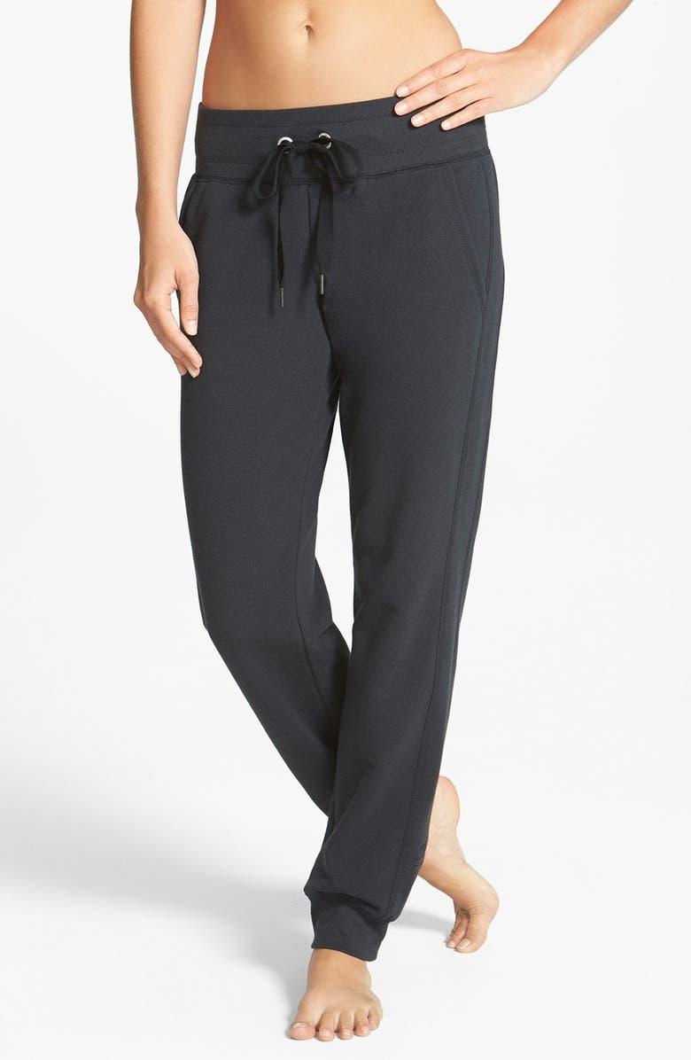 ZELLA Low Rise Skinny Fleece Sweatpants, Main, color, 001