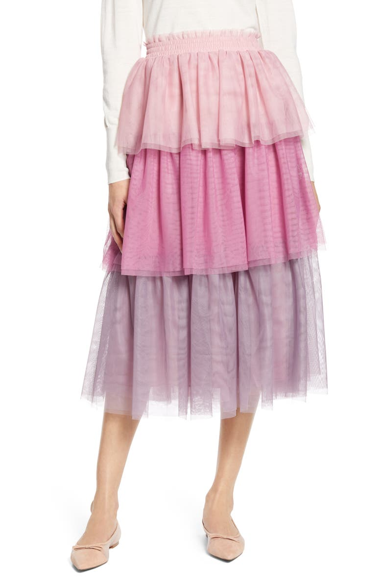 HALOGEN<SUP>®</SUP> x Atlantic-Pacific Tiered Tulle Skirt, Main, color, 680