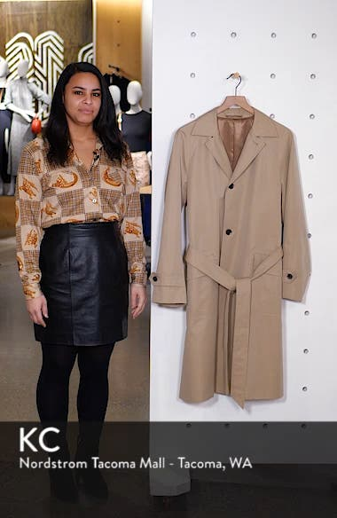 Trim Fit Cotton Trench Coat, sales video thumbnail