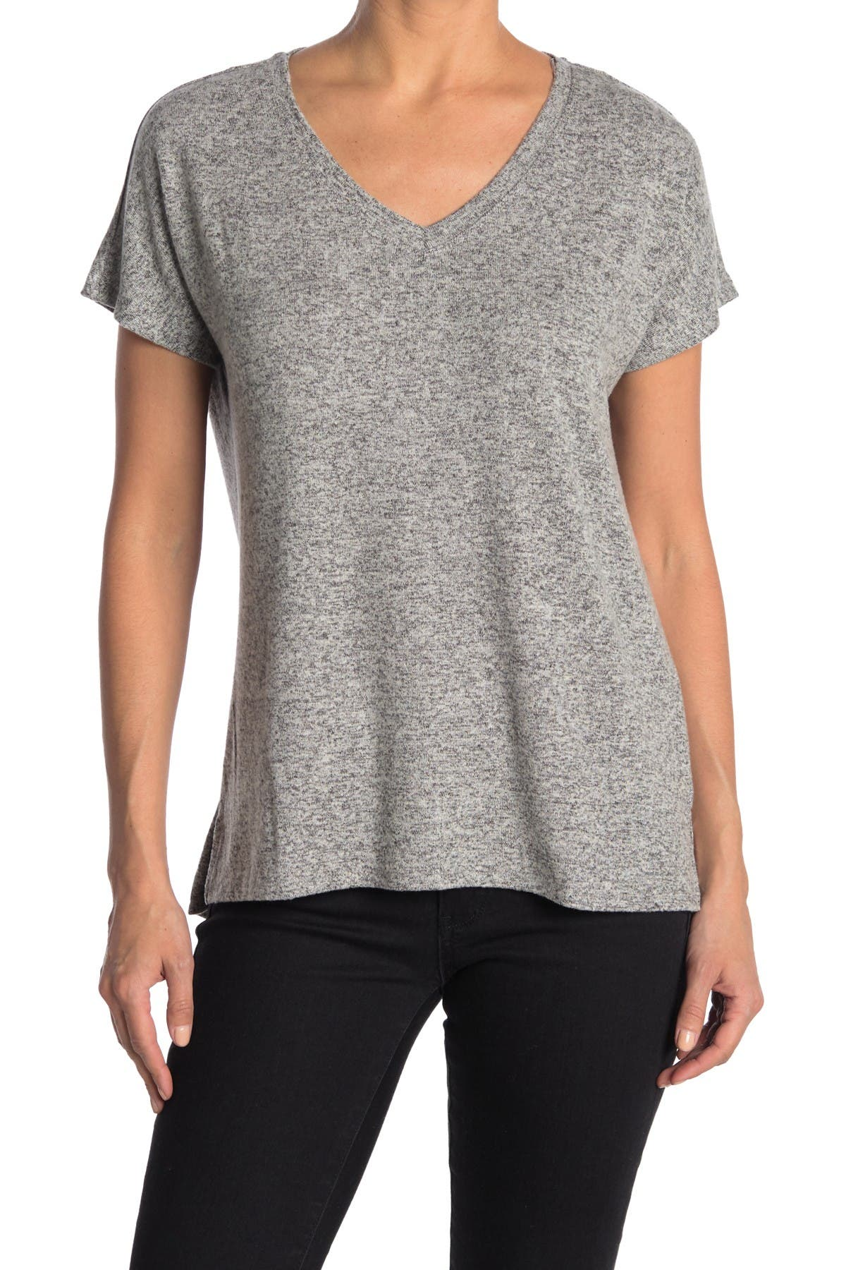 Image of FOR THE REPUBLIC V-Neck Short Dolman Sleeve Top