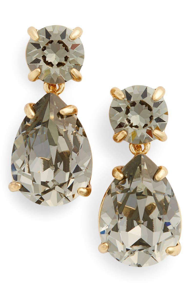 KATE SPADE NEW YORK crystal drop earrings, Main, color, 001
