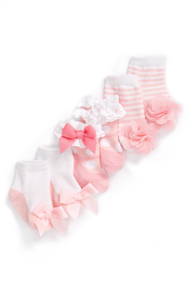 MUD PIE Socks Set, Main, color, NEW PINK/ WHITE