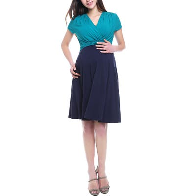 Kimi & Kai Sarah Faux Wrap Maternity/nursing Dress