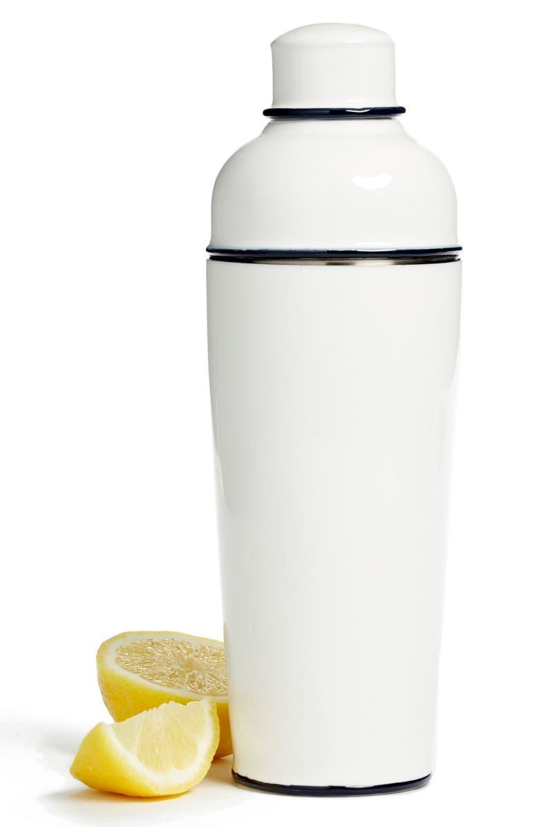 TREASURE & BOND Enamel Cocktail Shaker, Main, color, WHITE