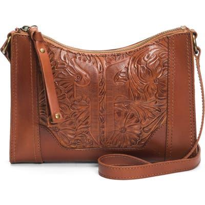 Frye Melissa Artisan Tooled Leather Crossbody Bag - Brown