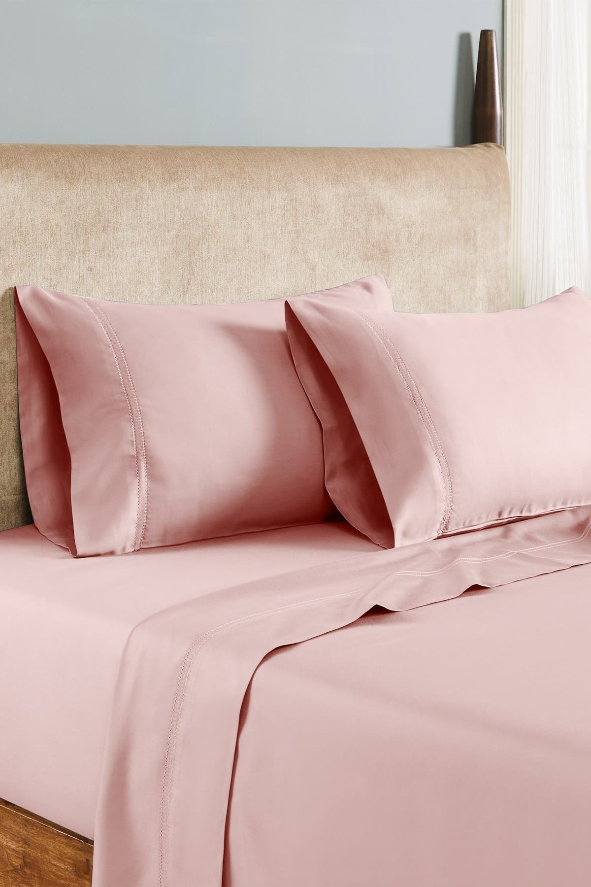 Modern Threads 1000 Thread Count Tri Blend 6 Piece Sheet Set With Double Hole Hem Rose King Nordstrom Rack
