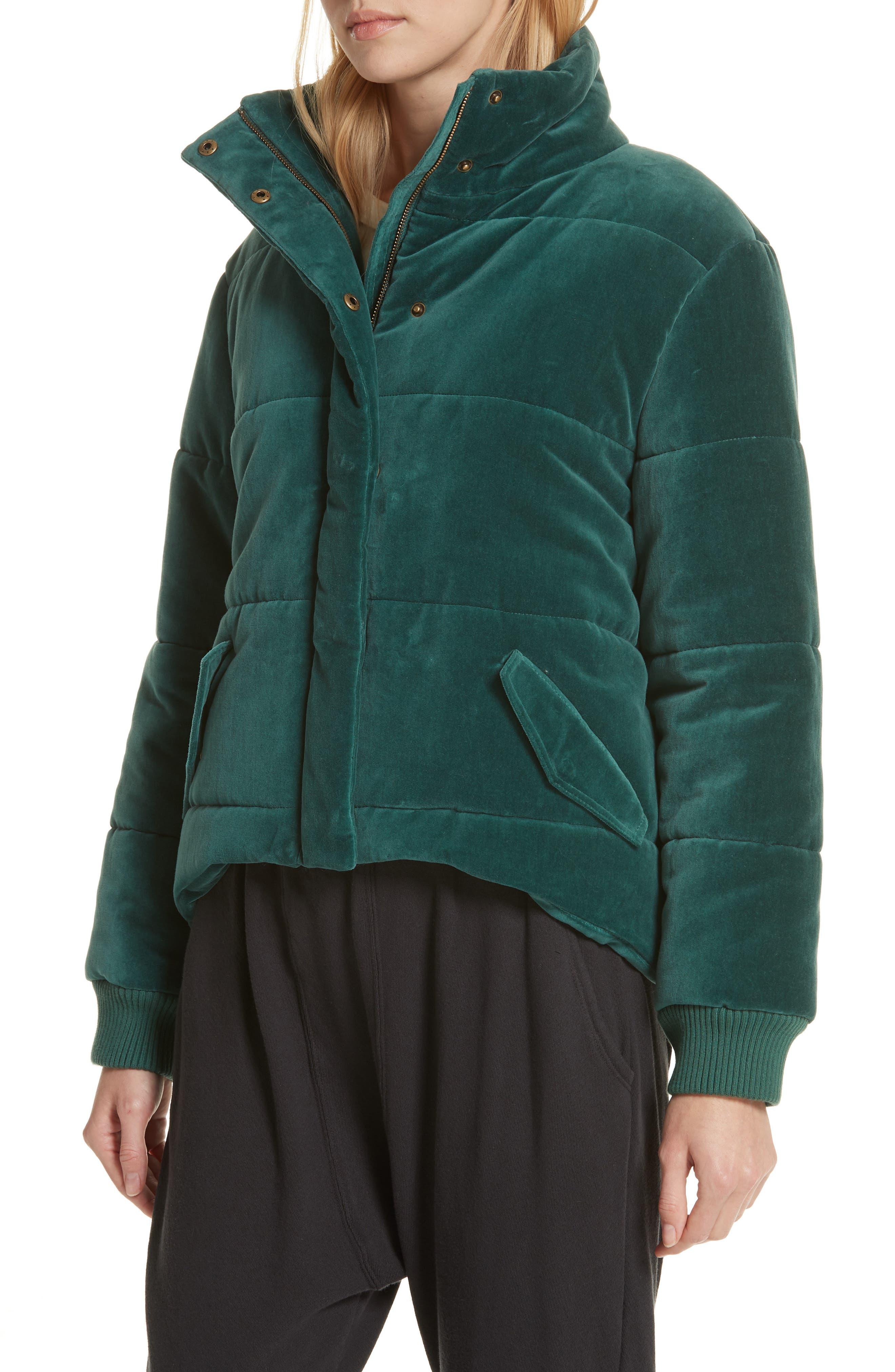 ,                             The Quilted Velvet Puffer Coat,                             Alternate thumbnail 4, color,                             300