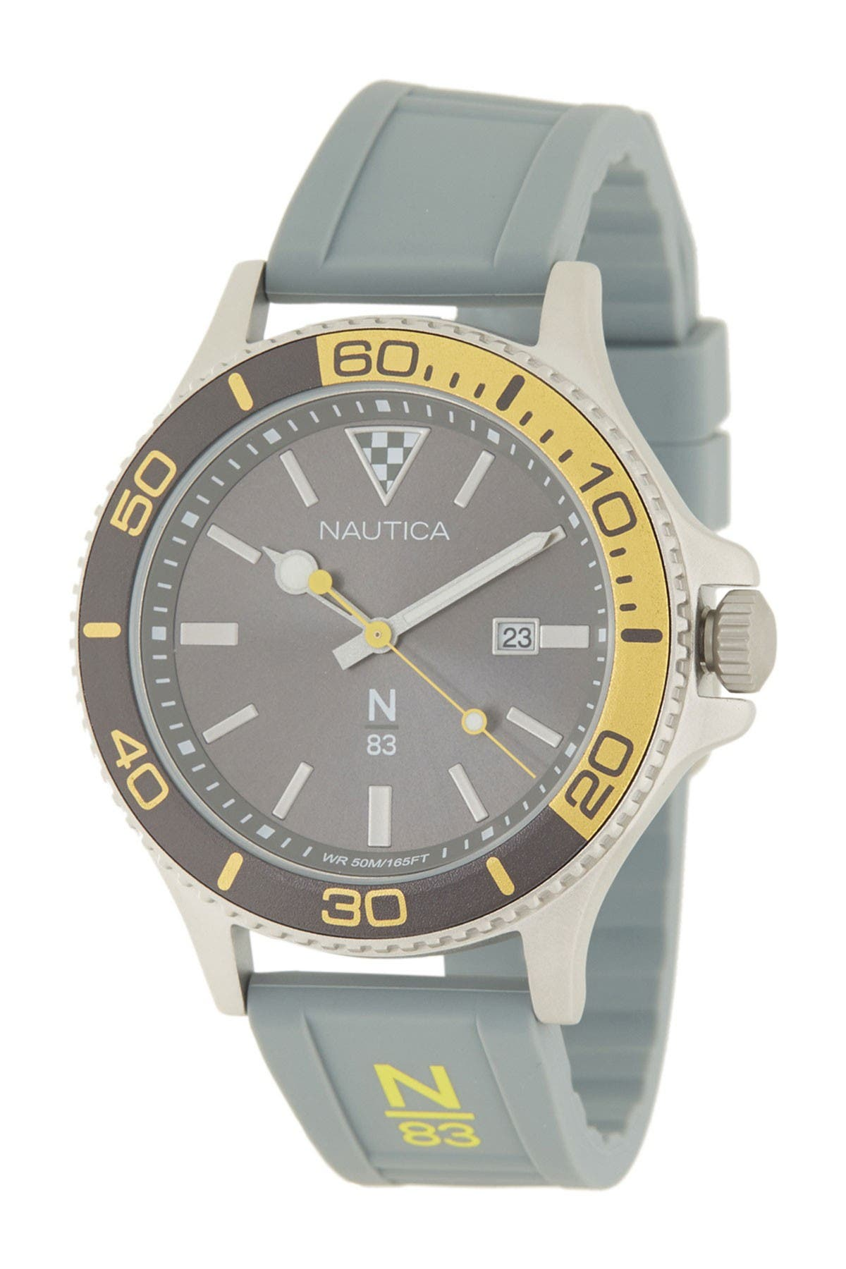 Image of Nautica Men's Trendy Grey Watch, 43mm