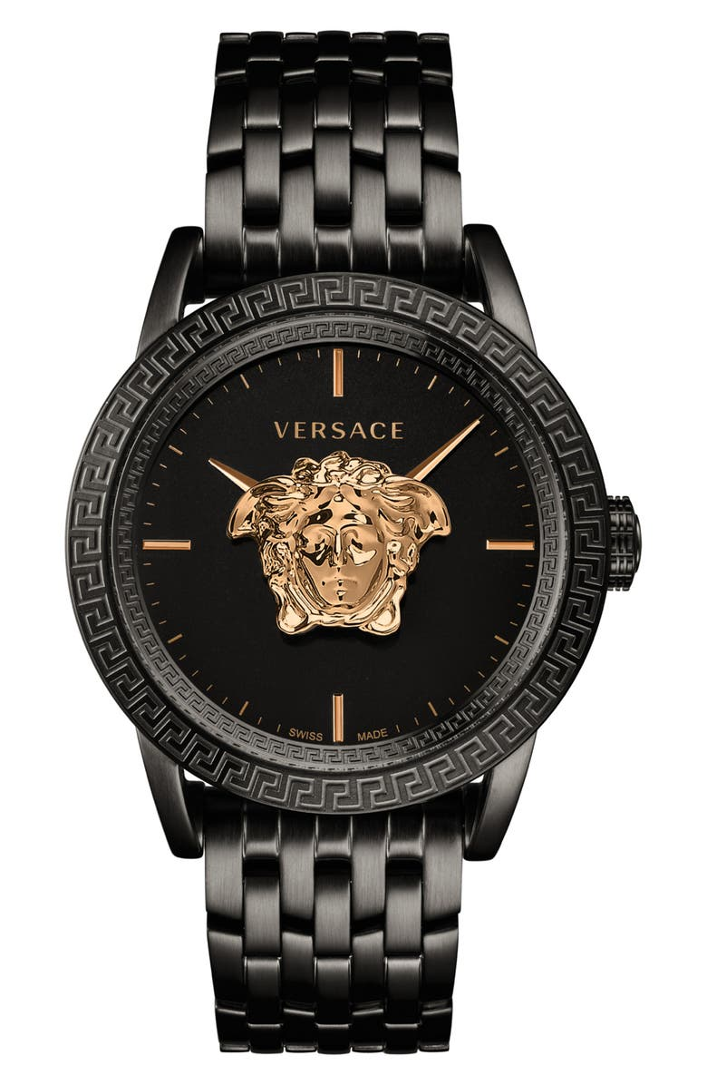 VERSACE Palazzo Empire Bracelet Watch, 43mm, Main, color, 001