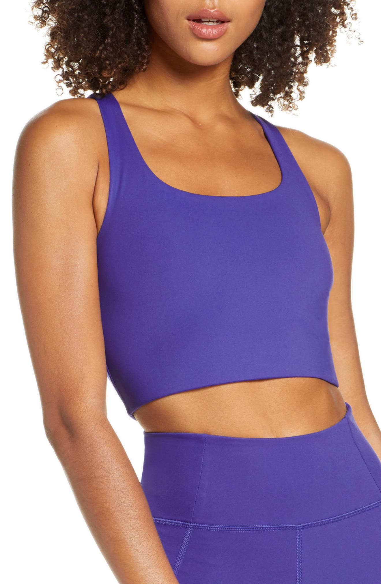Girlfriend Collective Paloma Sports Bra, Blue