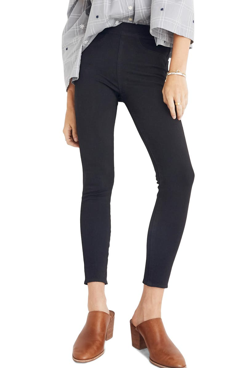 MADEWELL Pull-On Jeans, Main, color, BLACK FROST