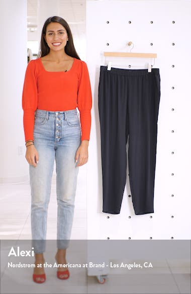 Slouchy Silk Ankle Pants, sales video thumbnail