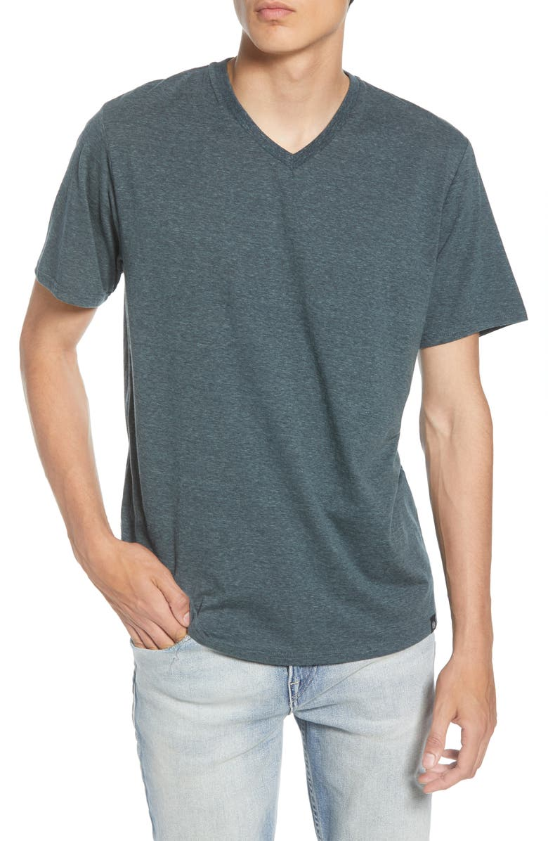 THREADS 4 THOUGHT Slim Fit V-Neck T-Shirt, Main, color, GUNMETAL