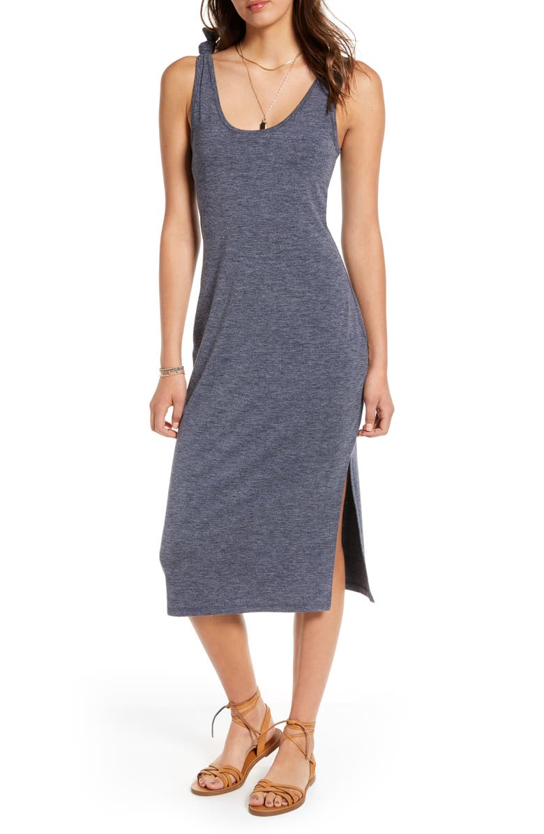 TREASURE & BOND Scoop Neck Knit Dress, Main, color, NAVY NIGHT HEATHER