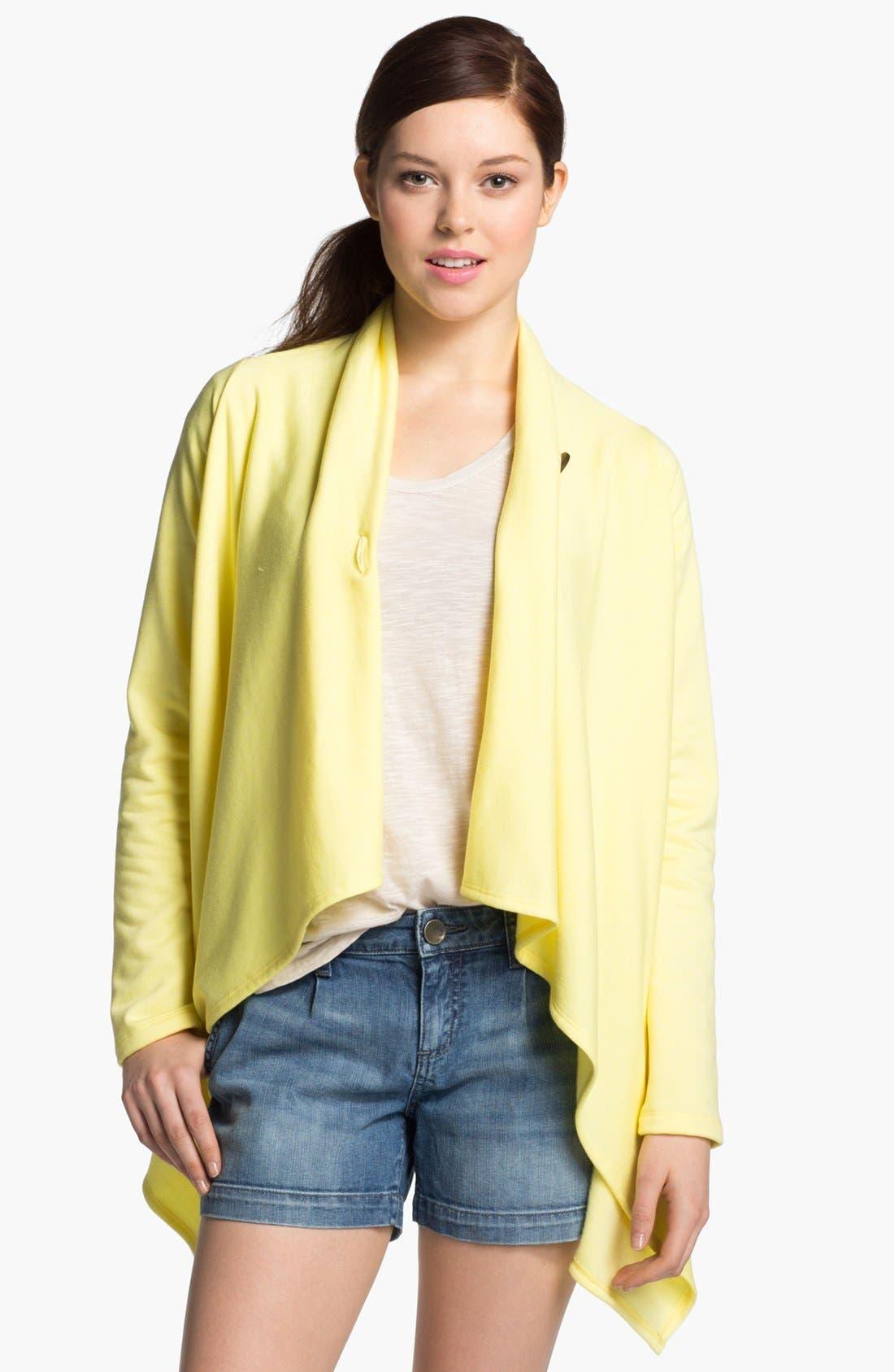 ,                             One-Button Fleece Wrap Cardigan,                             Alternate thumbnail 225, color,                             762