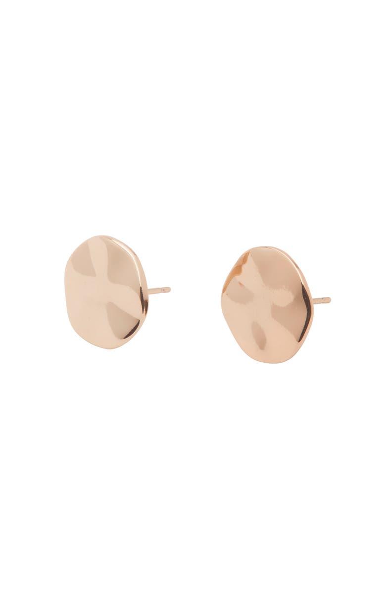 GORJANA Chloe Small Stud Earrings, Main, color, ROSE GOLD