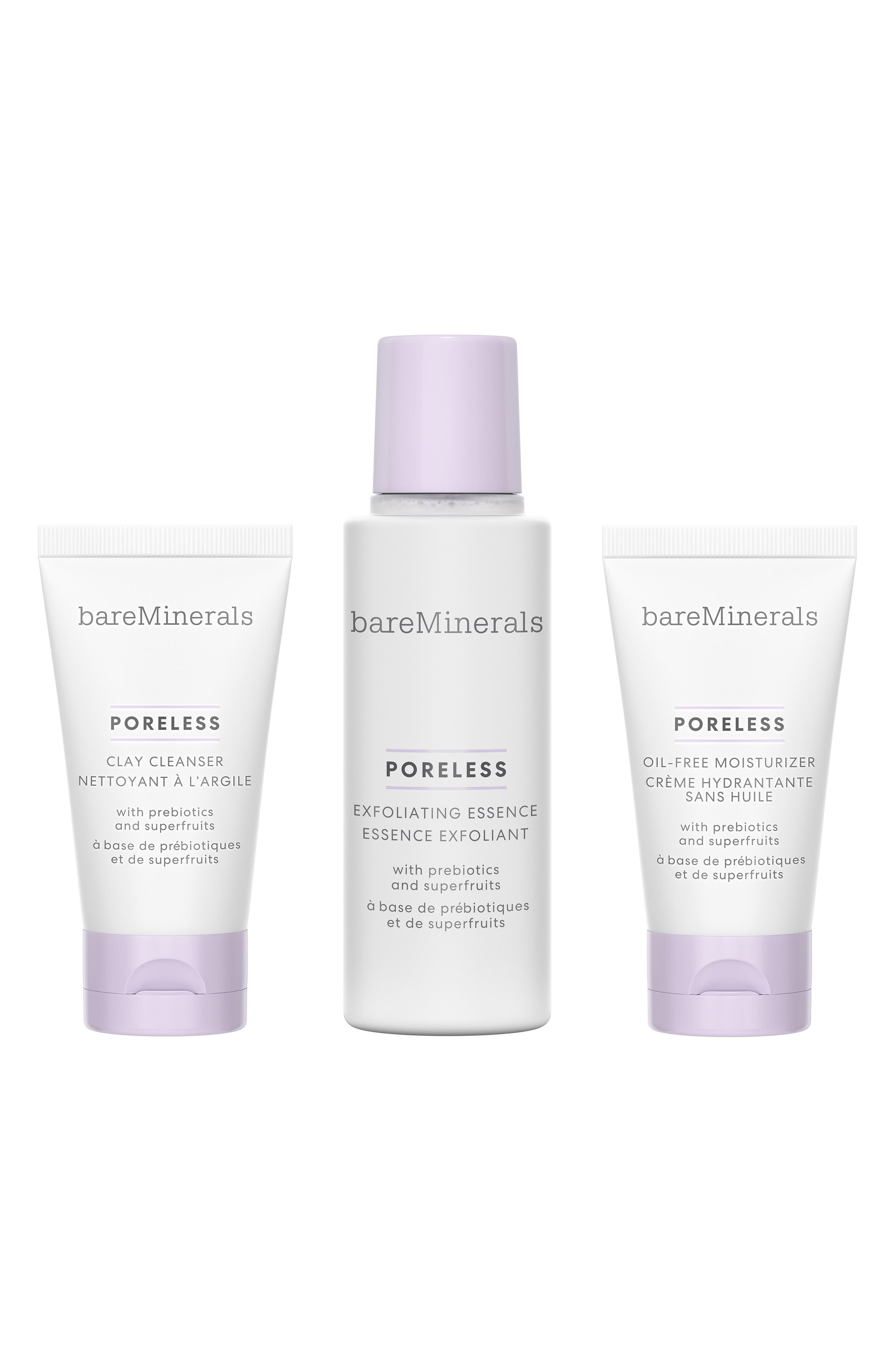 What it is: Minimize the look of pores with this limited-edition, travel-size skincare kit thats perfect for all skin types. What it does: This 3-step PORELESS regimen reveals dramatically smaller-looking pores in just 1 week. The vegan formulas are rich in exfoliating superfruit acids and nutrient-packed prebiotics to minimize the look of pores and give skin a fresh, healthy-looking holiday glow. Your skin is left looking refined and smooth. Set