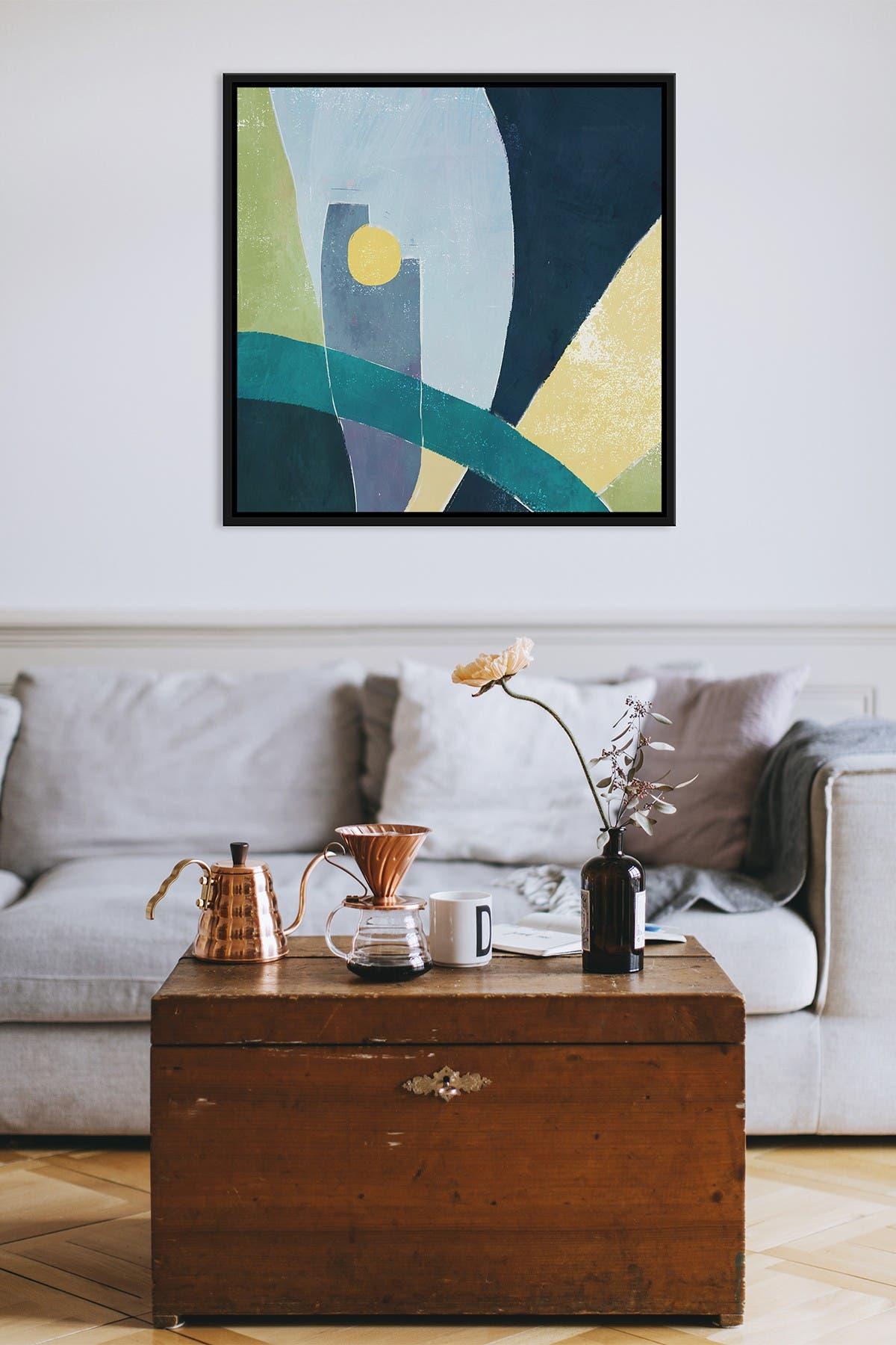 Image of PTM Images Bold Abstract Large XXVIII Floater Framed Canvas