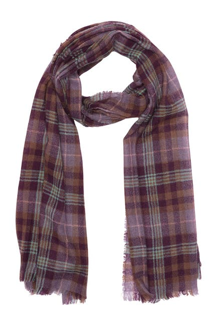 Image of Theory Ambros Plaid Cashmere Scarf