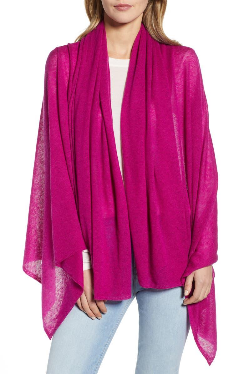 HALOGEN<SUP>®</SUP> Lightweight Cashmere Scarf, Main, color, PURPLE ROSEA