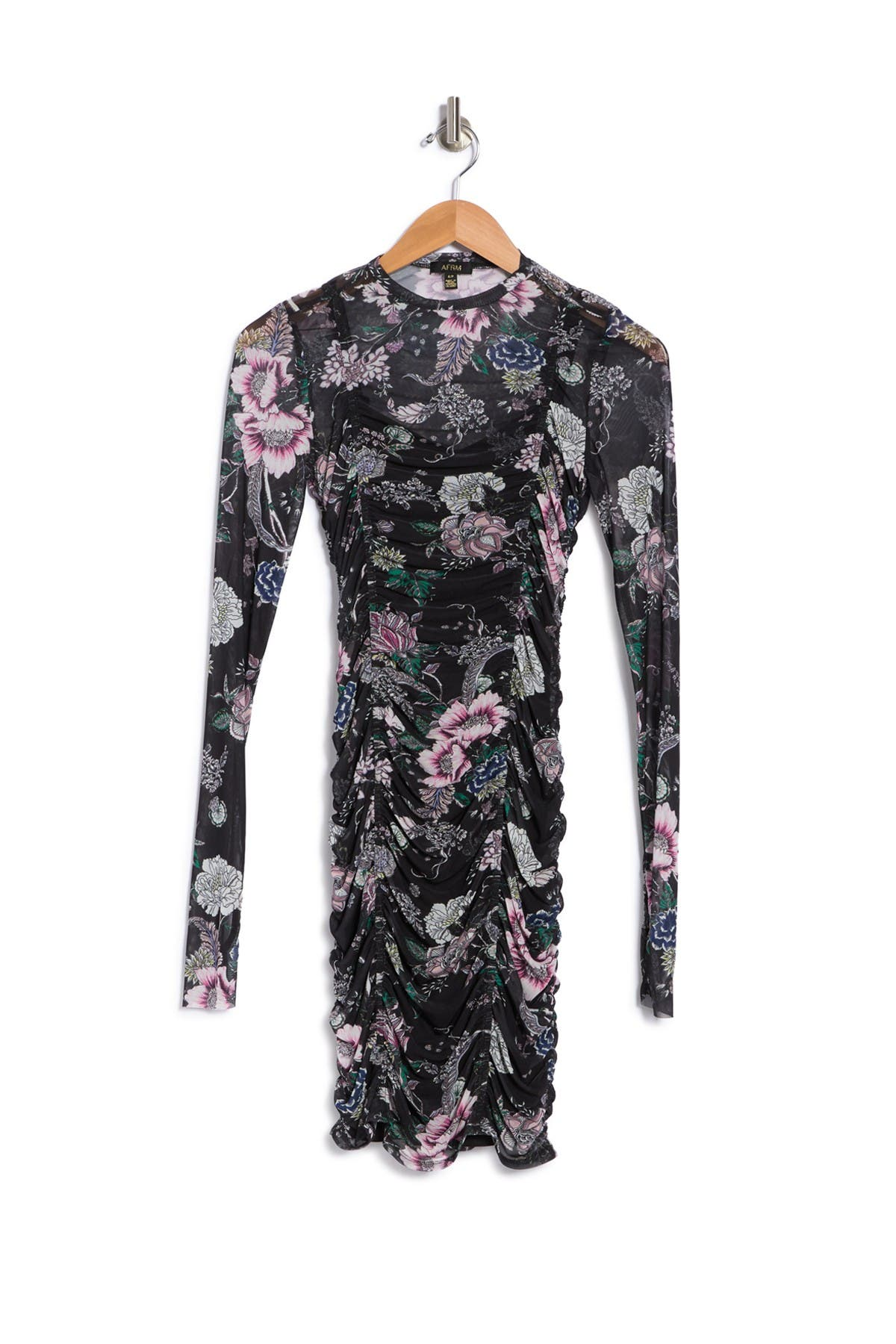 Image of AFRM Blair Ruched Floral Bodycon Dress