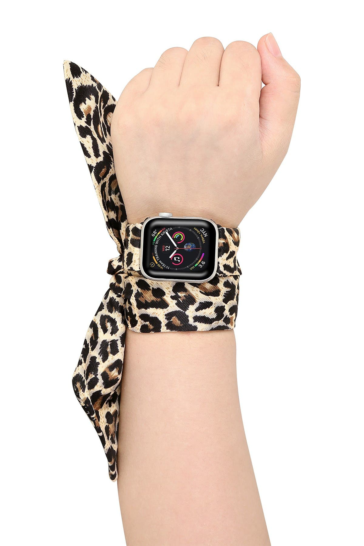Image of POSH TECH Leopard Silk Scarf 42mm/44mm Apple Watch 1/2/3/4 Band