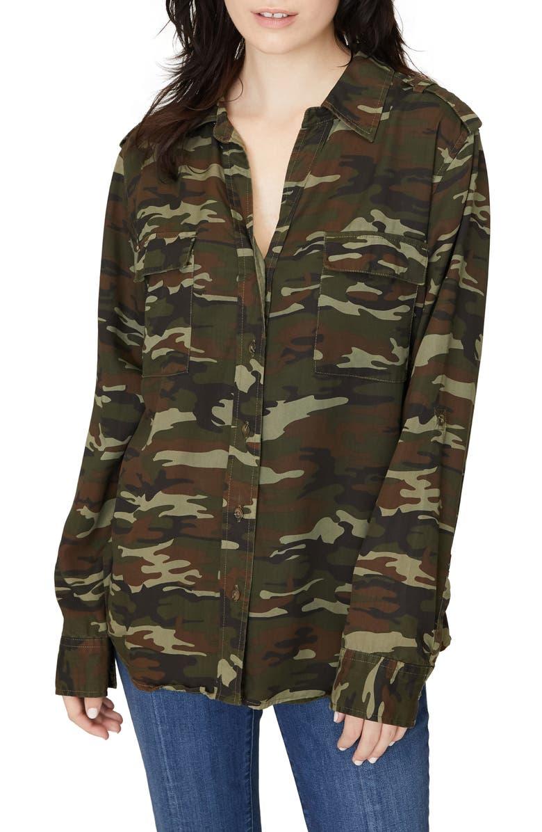SANCTUARY Conroy Surplus Shirt, Main, color, LITTLE HERO CAMO